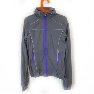 Ivivva Lululemon Reflective Piped Hood Windbreaker
